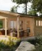 Das Highlight im Garten – eine Grillhütte mit LogFoot™ Fundament
